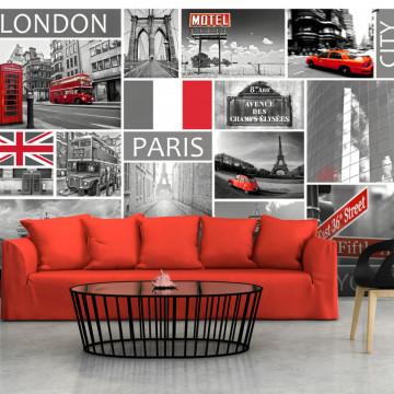 Fototapet - London, Paris, Berlin, New York