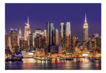 Fototapet Oras: NYC: Night City