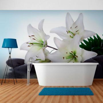 Fototapet - Pure, white lilies