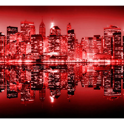 Fototapet - Red-hot NYC