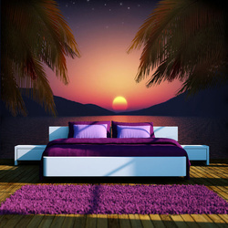 Fototapet - Romantic evening on the beach