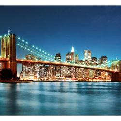 Fototapet - Sparkling Brooklyn Bridge