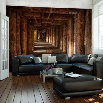 Fototapet - Wooden passage