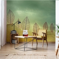 Fragile Leaves Photo Wallpaper Mural