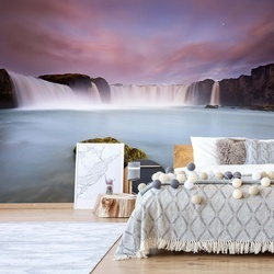 Godafoss And The Moon Photo Wallpaper Mural
