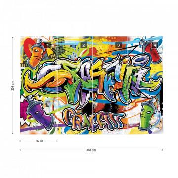 Graffiti Photo Wallpaper Wall Mural