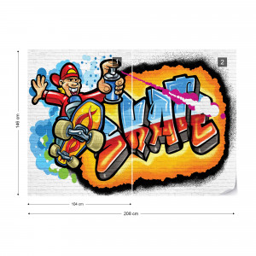 Graffiti Skateboarding Photo Wallpaper Wall Mural