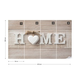 Home Wood Planks Farmhouse Chic Photo Wallpaper Wall Mural