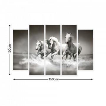 Horses & Unicorns Canvas Photo Print