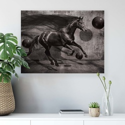 Horses & Unicorns Canvas Photo Print
