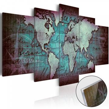 Imagine pe sticlă acrilică - Acrylic prints – Bronze map II