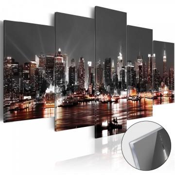 Imagine pe sticlă acrilică - Gray City [Glass]