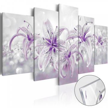 Imagine pe sticlă acrilică - Purple Graces [Glass]