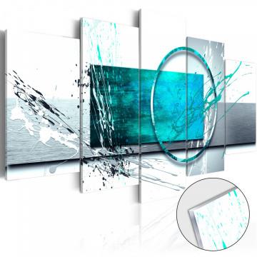 Imagine pe sticlă acrilică - Turquoise Expression [Glass]