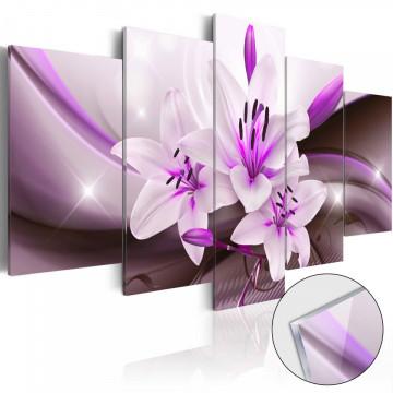 Imagine pe sticlă acrilică - Violet Desert Lily [Glass]