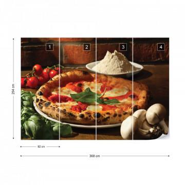 Italian Food Restaurant Pizza Photo Wallpaper Wall Mural