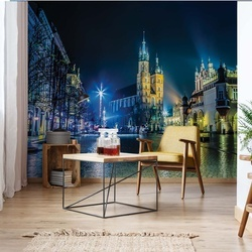 Krakow City Square At Night Photo Wallpaper Wall Mural