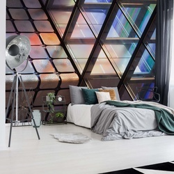 Lines & Colours Photo Wallpaper Mural