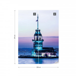 Maiden Tower Istanbul Sunset Photo Wallpaper Wall Mural