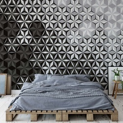 Modern 3D Black And White Pattern Photo Wallpaper Wall Mural