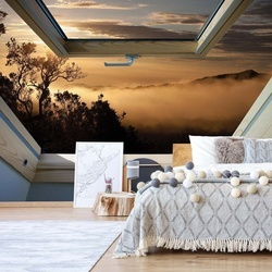 Mountain Skylight Window View Photo Wallpaper Wall Mural