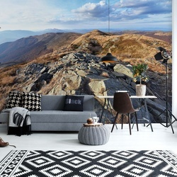 Mountain View Photo Wallpaper Wall Mural
