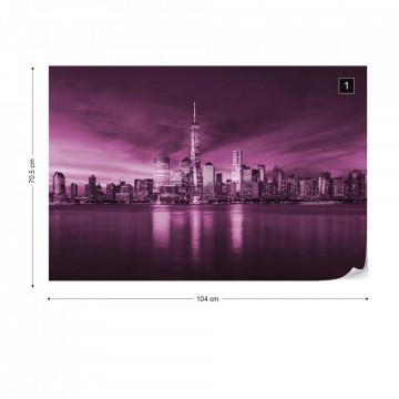 New York City Sunrise in Pink