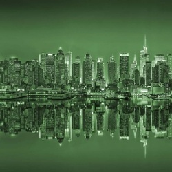 New York Reflections in Green