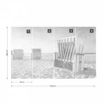 Ostsee Strandkörbe Black & White