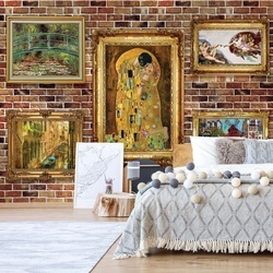 Paintings Art Brick Wall Background Photo Wallpaper Wall Mural