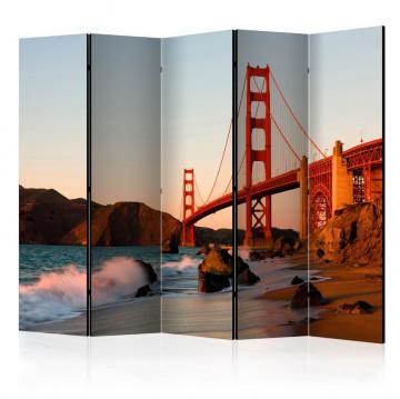 Paravan - Golden Gate Bridge - sunset, San Francisco II [Room Dividers]