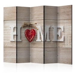 Paravan - Room divider - Home and red heart