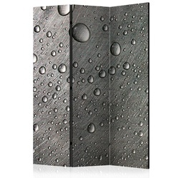 Paravan - Steel surface with water drops [Room Dividers]