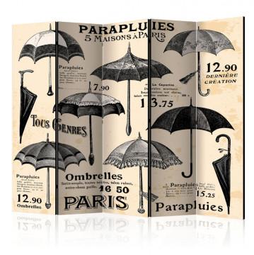 Paravan - Vintage Umbrellas II [Room Dividers]
