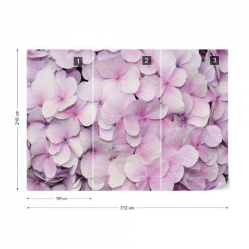 Pastel Flowers Purple Photo Wallpaper Wall Mural