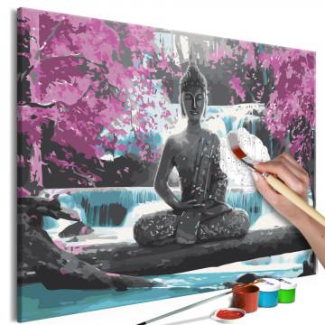 Pictatul pentru recreere - Buddha and Waterfall