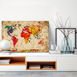 Pictatul pentru recreere - World Map (Colour Splashes)