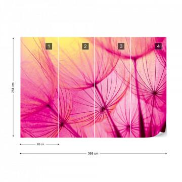 Pink Dandelion Photo Wallpaper Wall Mural