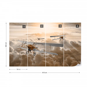 Planes Flying Above The Clouds Photo Wallpaper Wall Mural