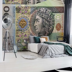 Polish Banknote Photo Wallpaper Wall Mural