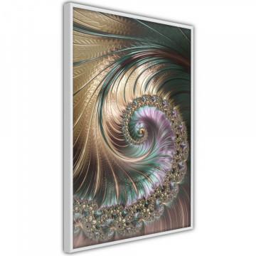 Poster - Iridescent Spiral