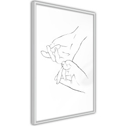 Poster - Joined Hands (White)