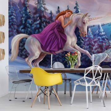 Princess Unicorn Photo Wallpaper Wall Mural