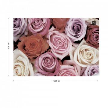 Roses Flowers Photo Wallpaper Wall Mural