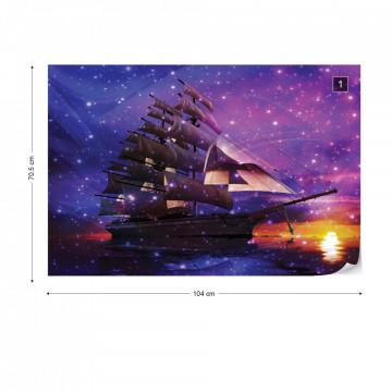 Sailing Ship Photo Wallpaper Wall Mural
