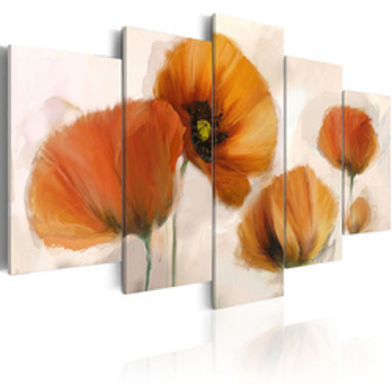 Tablou - Artistic poppies - 5 pieces