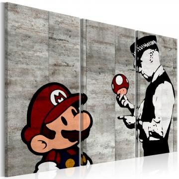 Tablou - Banksy: Mario Bros