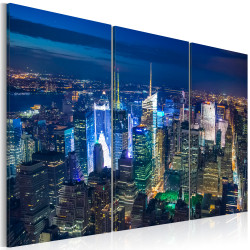 Tablou - Bird´s eye view of New York City by night