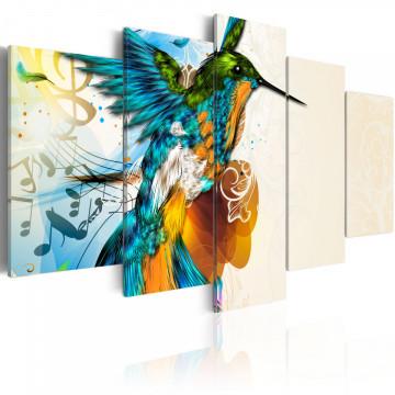 Tablou - Bird's music - 5 pieces
