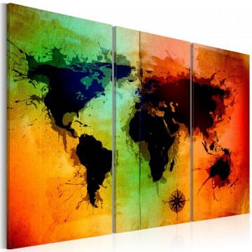 Tablou - Black lands - triptych